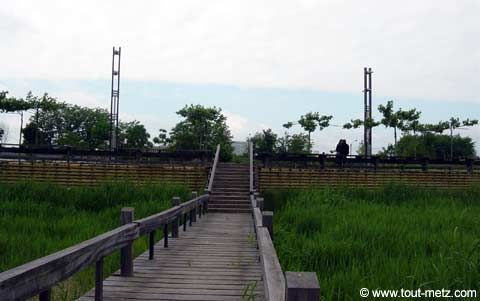 Parc de la Seille à Metz passerelle 2