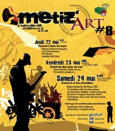 affiche Métiz 2008