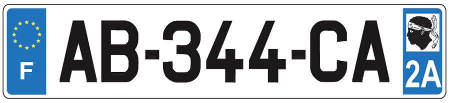 15 avril 2009 nouvelles plaques d 39 immatriculation en corse. Black Bedroom Furniture Sets. Home Design Ideas