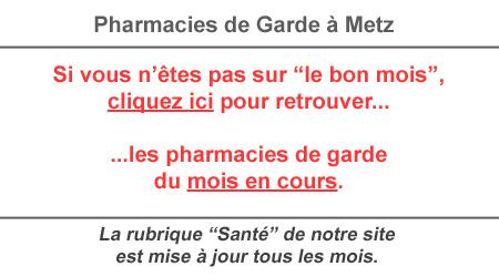Pharmacies de garde metz mois de mai tout metz for Pharmacie de garde salon