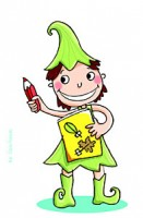 dessin enfant elfe crayon