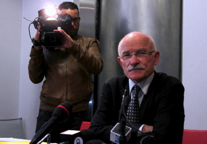 Dominique Gros en conférence de presse mercredi 29 férier