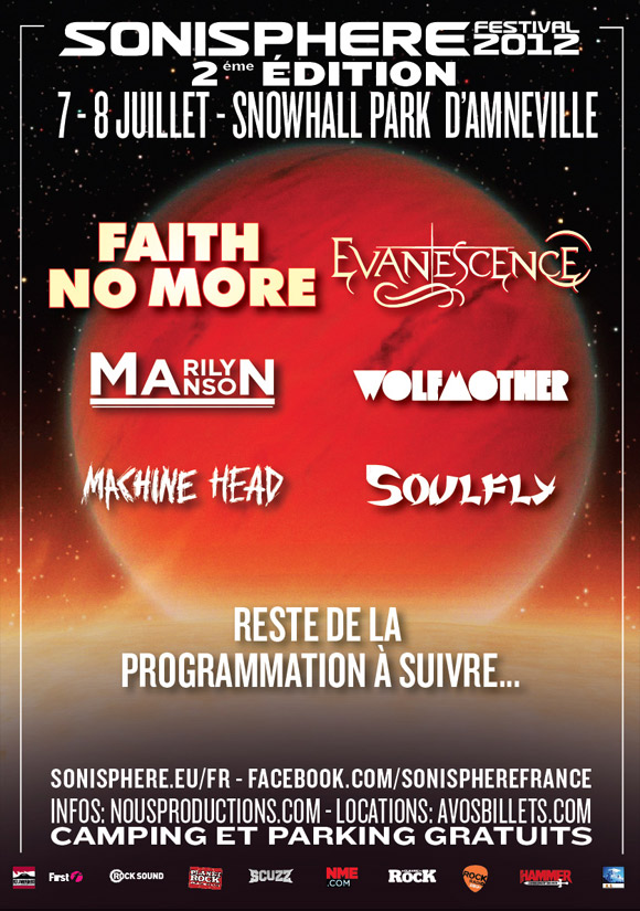 Faith No More, Marilyn Manson, Machine Head...