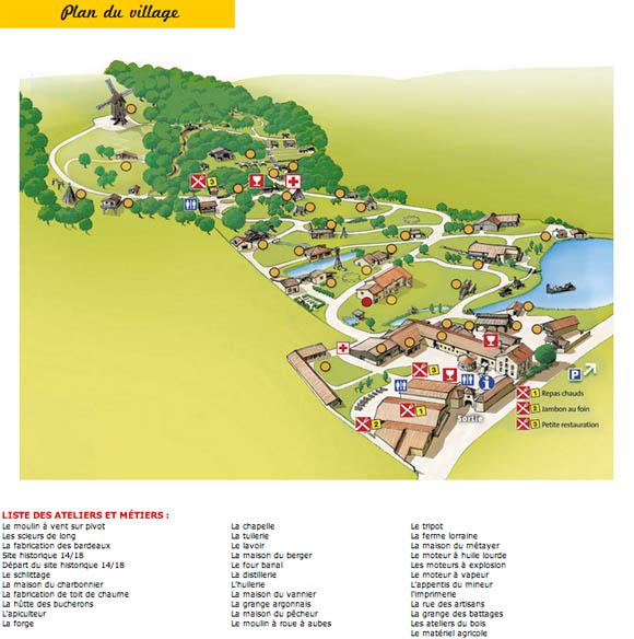 Plan du Village des Métiers
