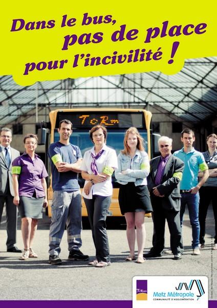 Stop aux incivilités dans les bus à Metz