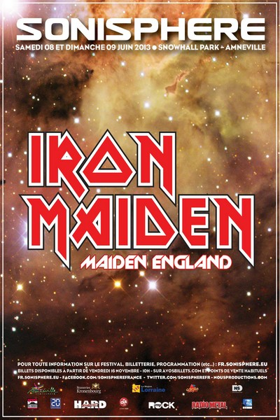 Sonisphere 2013 : 3 grands noms en plus d'Iron Maiden