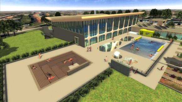 Première pierre pour le Centre nautique de Montigny les Metz