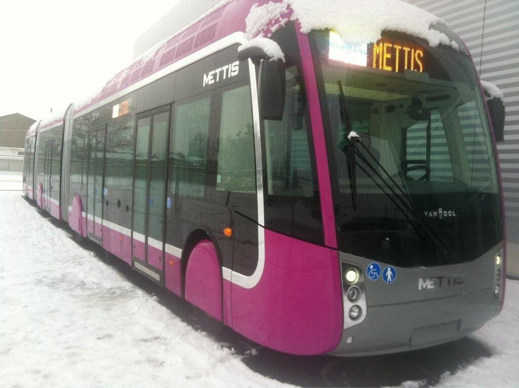 1er essai des bus Mettis ce jeudi dans les rues de Metz