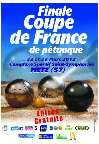 Finale de la Coupe de France de pétanque 2013 à Metz