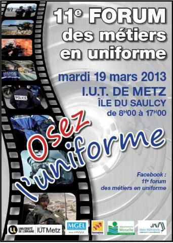 Le 19 mars au Saulcy, devenez vous-même et osez l'uniforme !