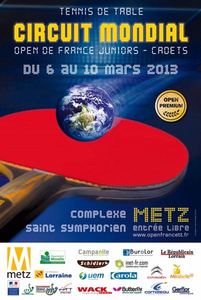 Le Circuit mondial de tennis de table Juniors – Cadets fait étape à Metz