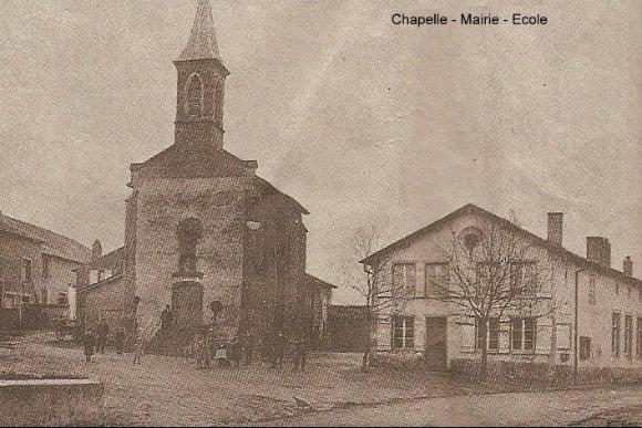Chapelle, mairie et école de Coin-lès-Cuvry