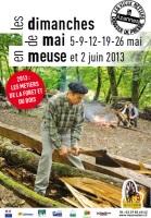 Village des Vieux Métiers d'Azannes 2013 en Meuse : le bois à l'honneur