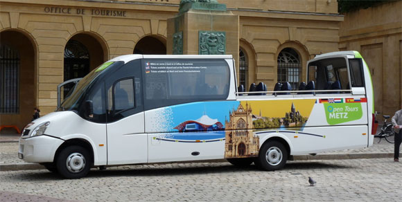 Visiter la Moselle à bord d'un bus cabriolet !