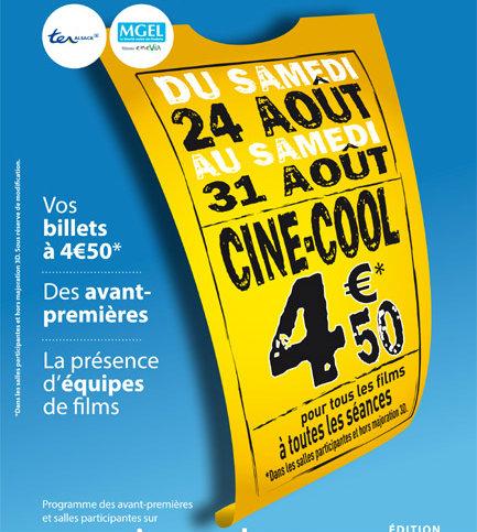 Ciné cool 2013 : la place de cinéma à 4,50€ pendant 1 semaine (mais pas à Kinépolis)