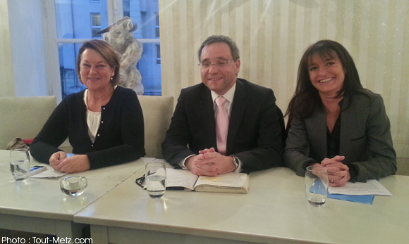 Nathalie GRIESBECK, Emmanuel LEBEAU et Nathalie COLIN-OESTERLE annoncent leur collaboration. Conférence de presse du 15 novembre 2013