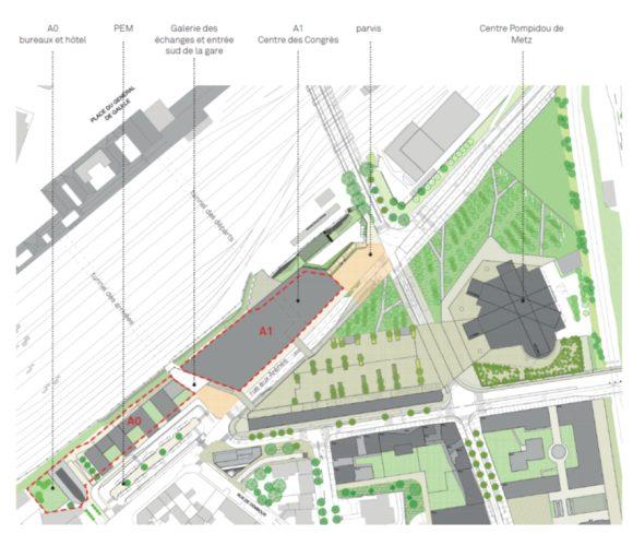 Le plan de masse dans sa dernière version (03/2014). Crédits : Agence Nicolas Michelin et associés / ANMA Architectes Urbanistes