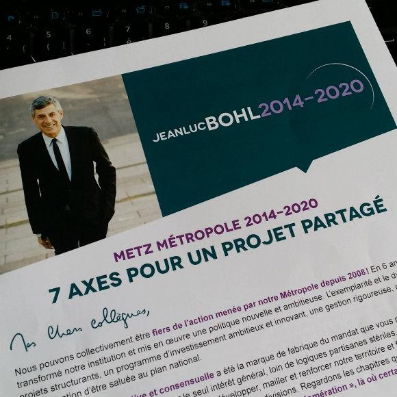 Elections à Metz Métropole : Jean-Luc Bohl officiellement candidat face à Dominique Gros