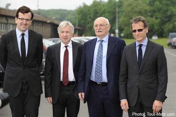 Frank Supplisson, Jean-Pierre Masseret, Guy Dollé, Jacques Schaffnit, chairman and Chief Executive Officer Ascometal.