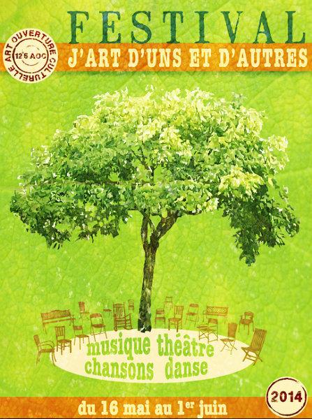 Affiche du Festival J'Art d'Uns et d'Autres, 2014