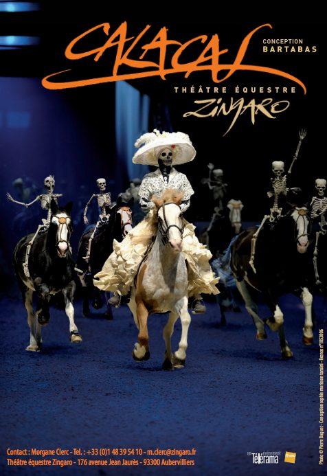 Théâtre équestre Zingaro : la danse macabre de Calacas à Yutz