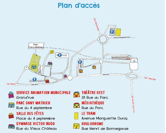Plan d'accès Festival La Marelle