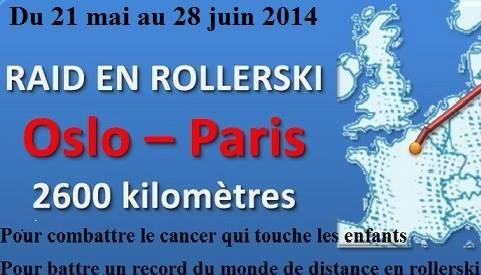 Raid de Rollerski pour les enfants malades : Proteau passe à Metz