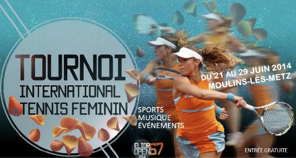 Tournoi tennis féminin : l'Elior Open 57 revient en 2014