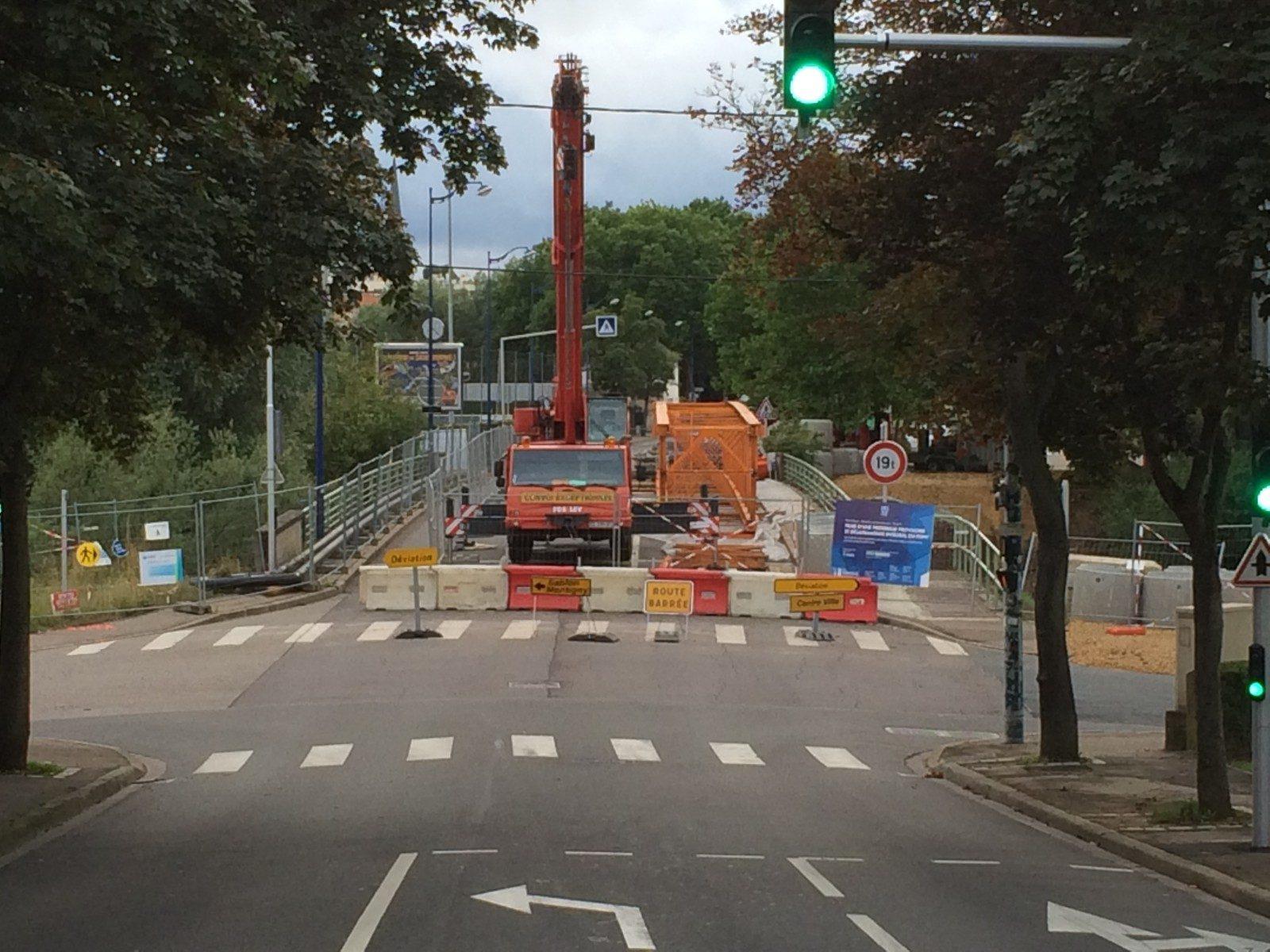 Metz : le pont Lothaire en travaux, circulation interdite aux véhicules