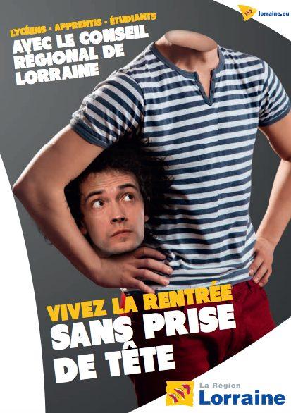 Une publicité du Conseil Régional de Lorraine détournée par des extrémistes