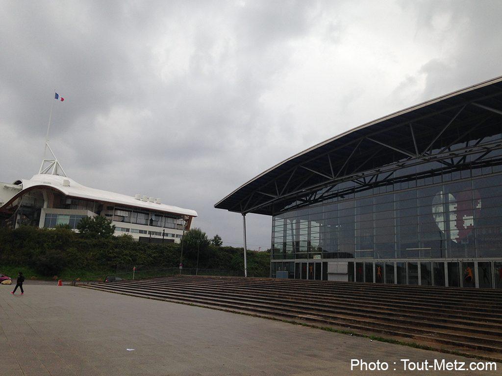 Moselle Open 2014 : le terrain se prépare aux Arènes de Metz (photos)