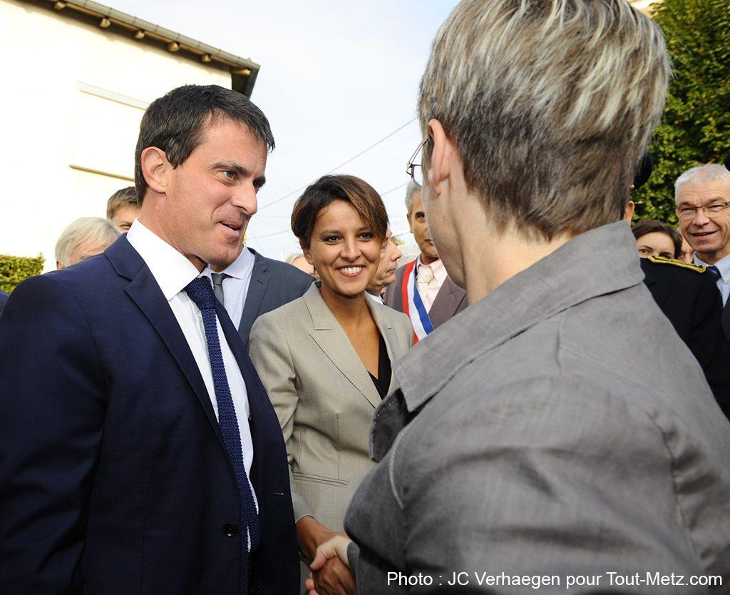 Photos : Manuel Valls et Najat Vallaud-Belkacem en visite en Lorraine