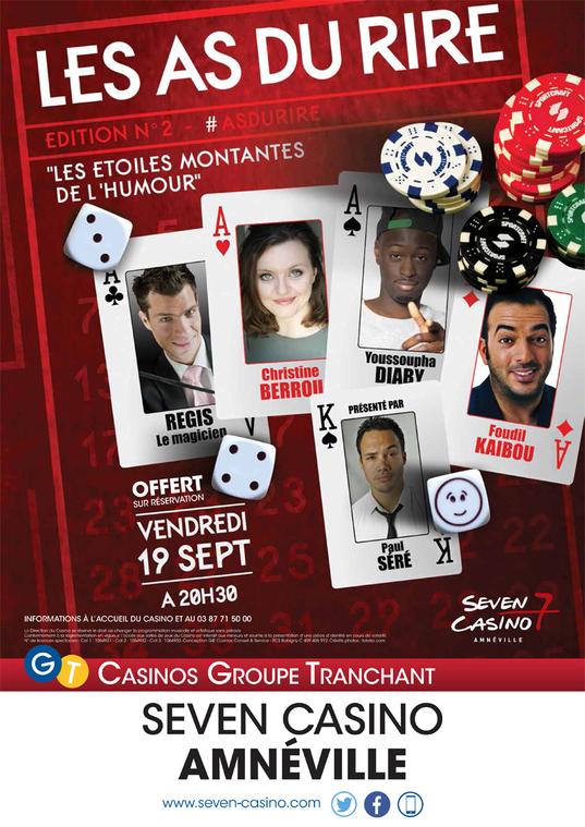 Spectacle : les As du rire sur la scène du Seven Casino