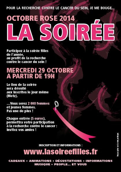 Octobre rose à Metz : une «soirée filles» dans un lieu tenu secret