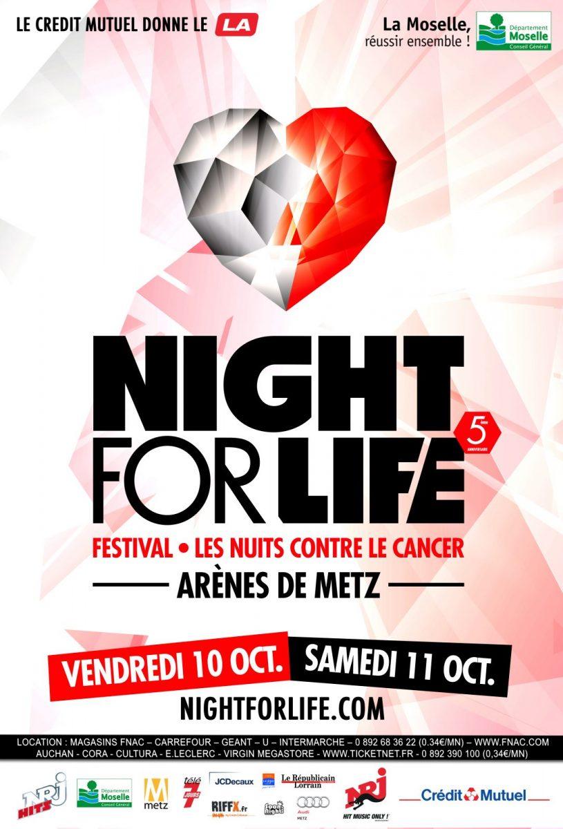 Night for Life 2014 à Metz : 2 nuits de concerts pour lutter contre le cancer