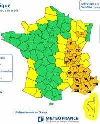 Alerte orange : fortes pluies et inondations attendues dans les Vosges