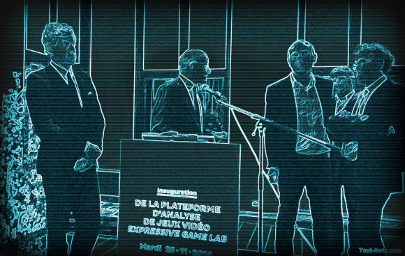 De gauche à droite, Jean Luc Bohl, Dominique Gros, Sébastien Genvo, Jacques Walter.