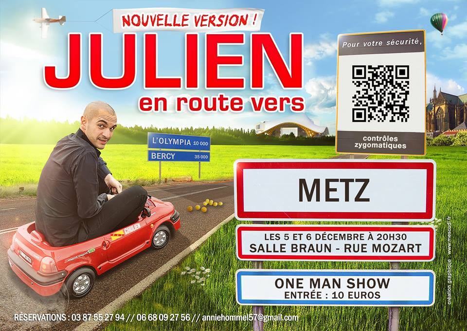 Spectacle : Julien en route vers l'Olympia vous attend à Metz