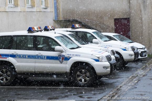 La Police Municipale de Metz est équipée de 11 véhicules, 15 motos mais aussi 12 VTT.