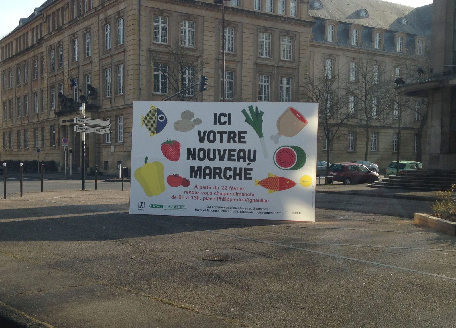 Photo de Metz : le marché place Philippe de Vigneulles supprimé le 29 mai