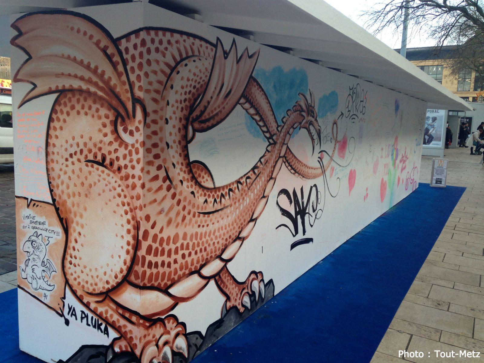 Retour en photos sur le mur d'expression de Metz