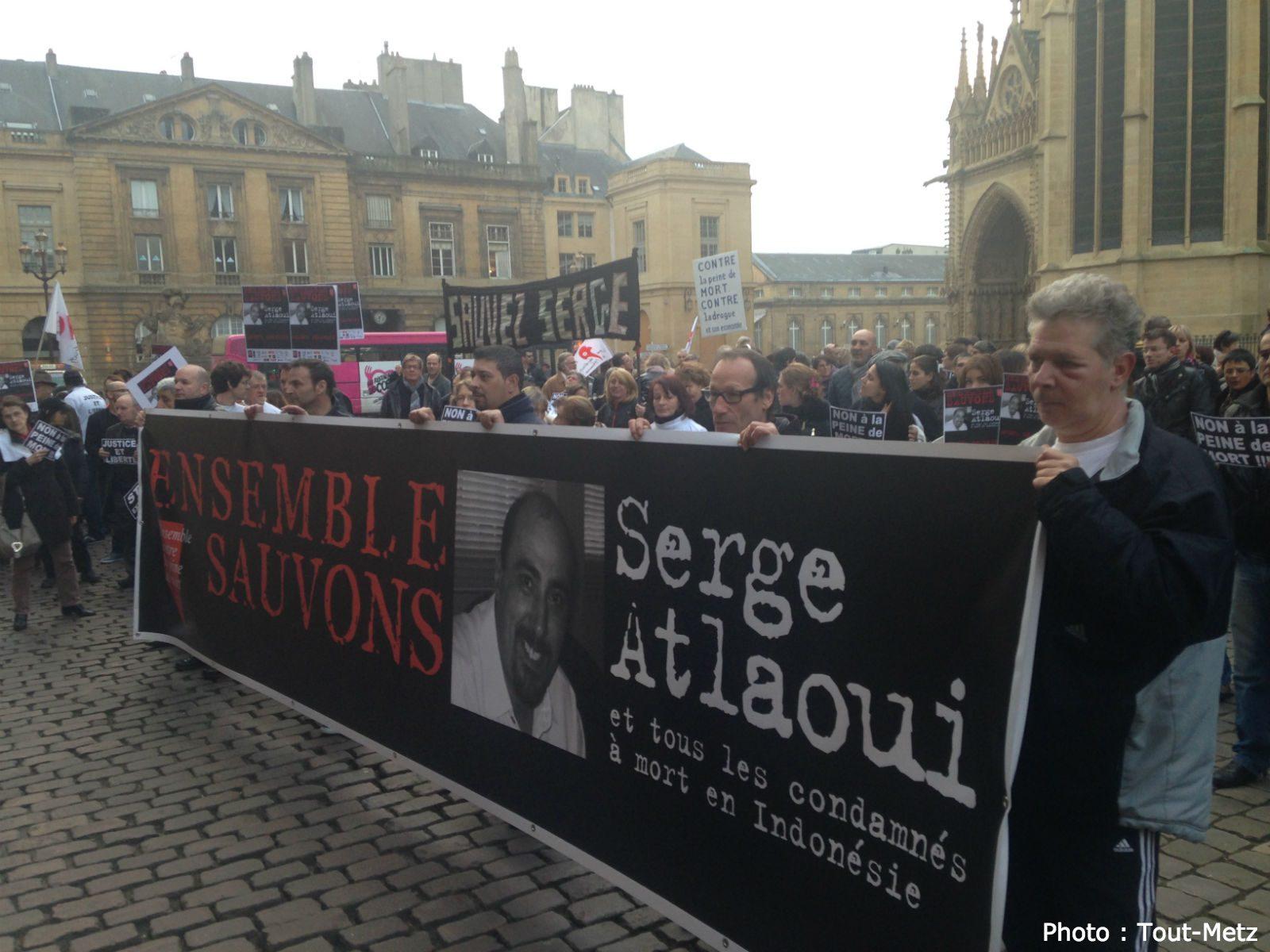 Metz : environ 150 personnes rassemblées pour Serge Atlaoui (photos)