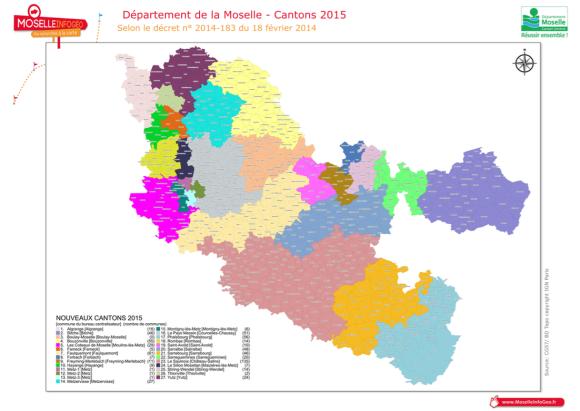 Cliquez sur la carte des cantons de Moselle pour la voir en plus grand - Source : MoselleInfoGéo