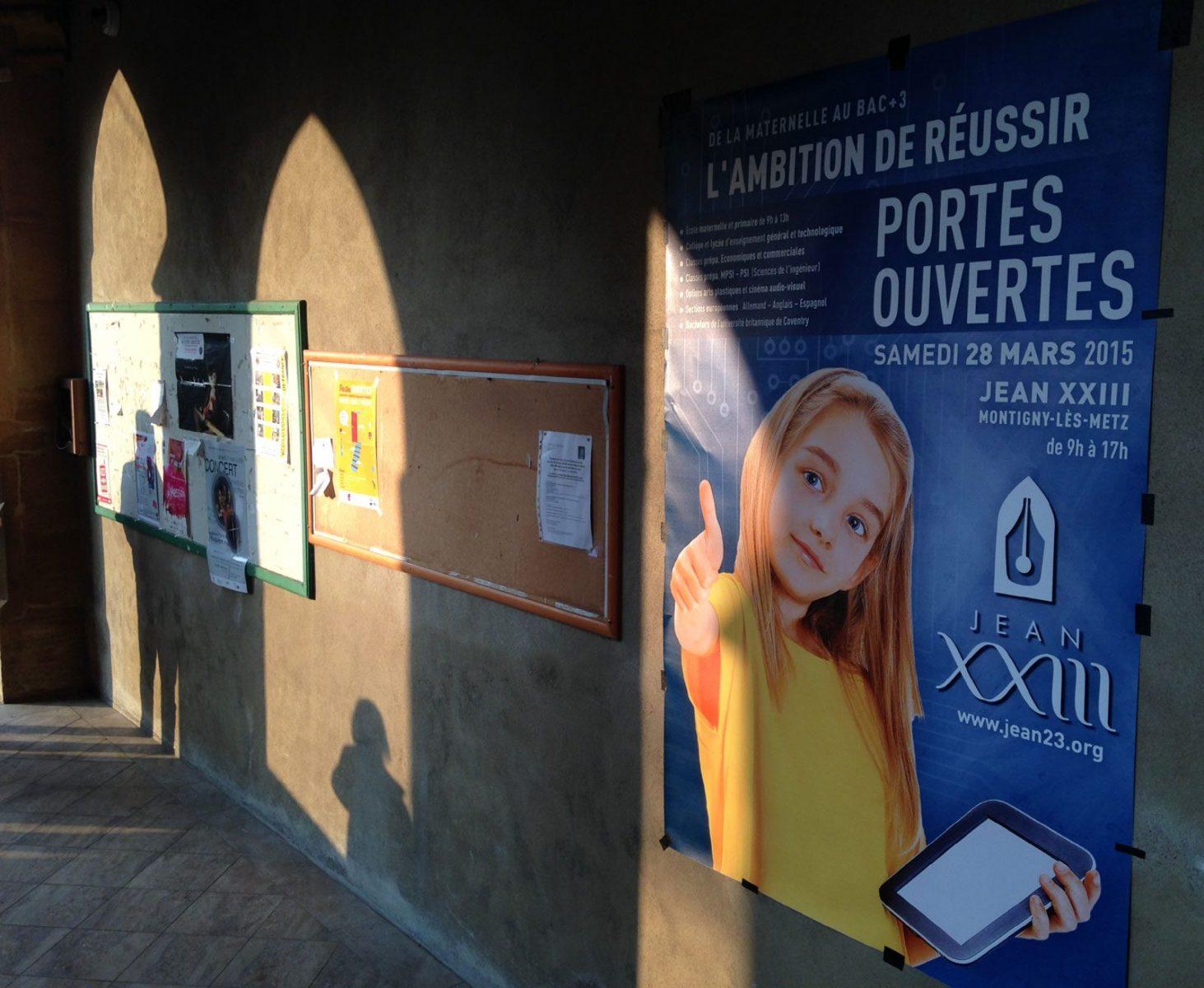 Photo de Montigny : portes ouvertes à l'Ensemble Scolaire privé Jean XXIII