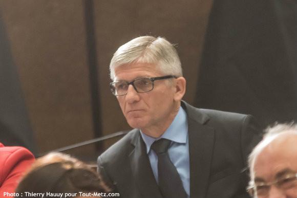 Fernand LORMANT, lors de l'installation du conseil départemental le 02 avril 2015