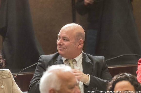 Jean Claude CUNAT, lors de l'installation du conseil départemental le 02 avril 2015