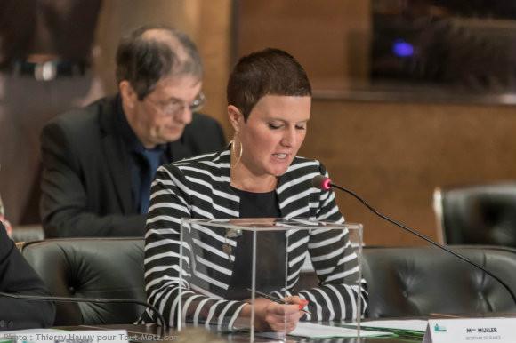 Katia MULLER, lors de l'installation du conseil départemental le 02 avril 2015