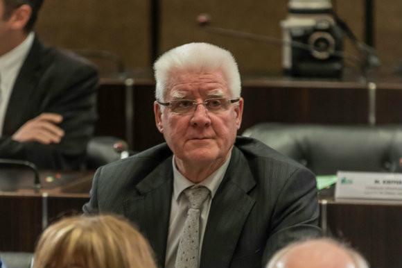 Lucien VETSCH, lors de l'installation du conseil départemental le 02 avril 2015