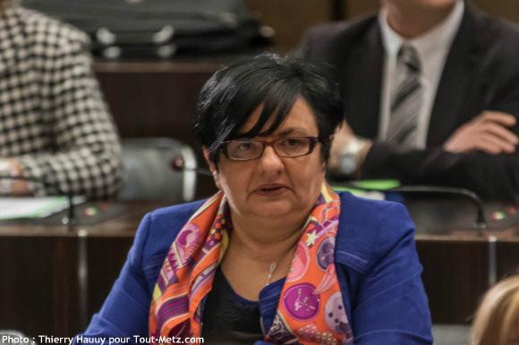 Marie Louise KUNTZ, lors de l'installation du conseil départemental le 02 avril 2015