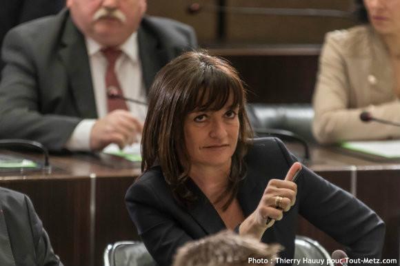Nathalie COLIN OESTERLE, lors de l'installation du conseil départemental le 02 avril 2015